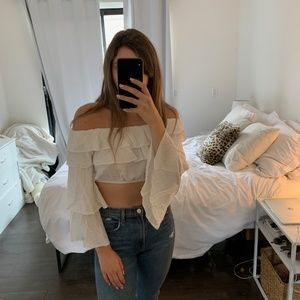 LF Ruffle Crop Top